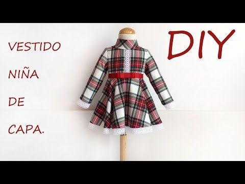 Vestido niña de capa. Vídeo de costura infantil. - YouTube