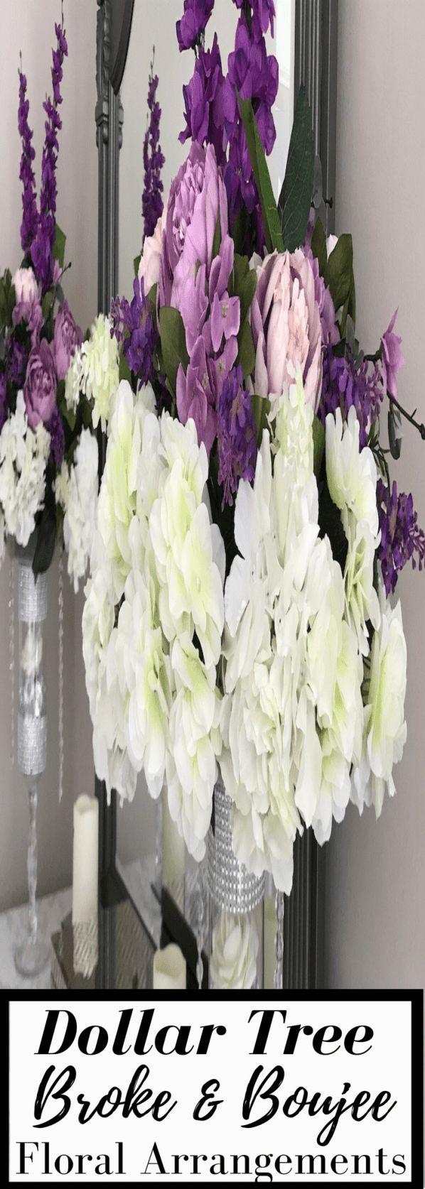886 best a dollar tree wedding images on pinterest centerpieces broke boujee diy dollar tree glam wedding floral arrangement monicamarmolfo Gallery