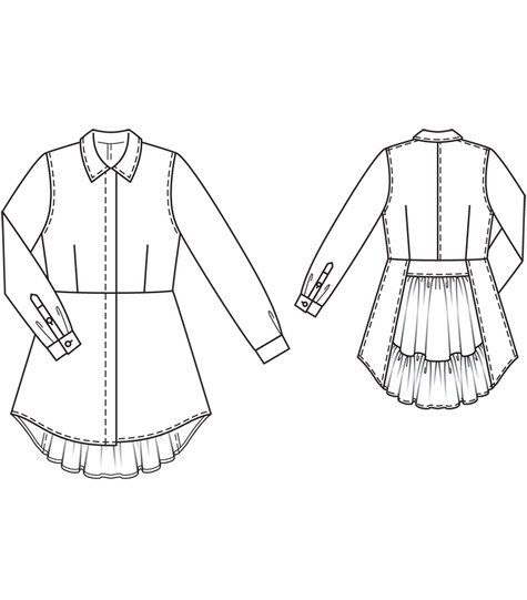 Peplum Blouse 04/2012 - Similar to the coat.. modify the pattern a bit and it could work :)