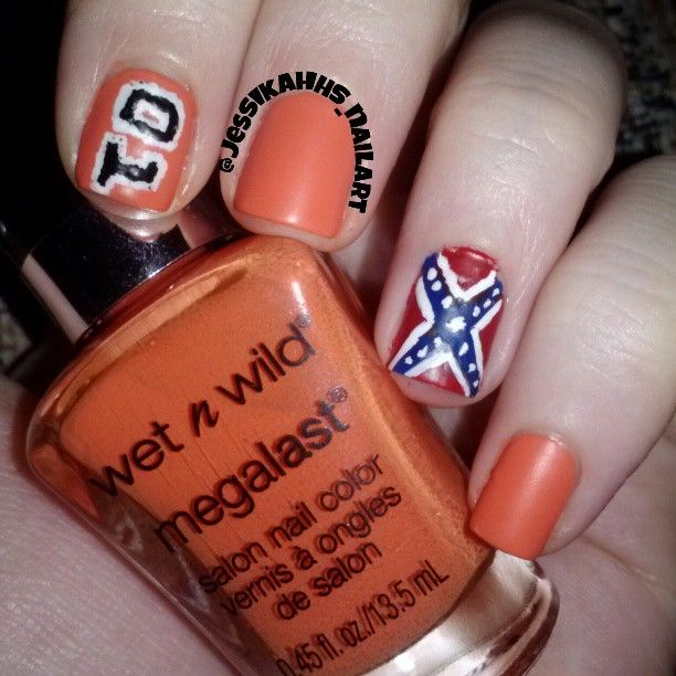 24 best southern nails images on pinterest country girl nails dukes of hazzard nails karla i have been thinking about doing these i did prinsesfo Choice Image