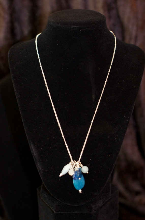 Ocean Blue Necklace by JewelrybyMKDesigns on Etsy
