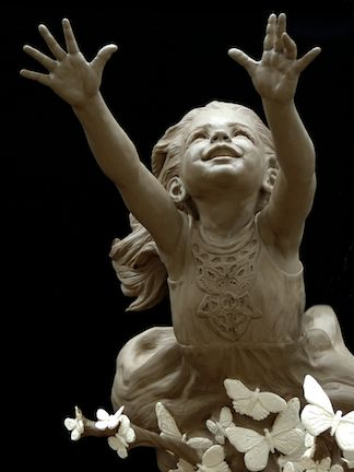"""Lift Her With Butterflies"" - sculpture by Angela Mia De La Vega"