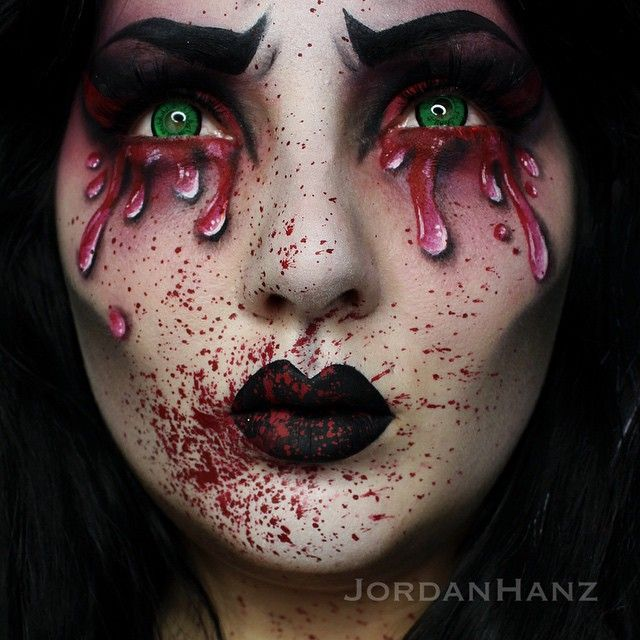 Creeeeeepy! Thanks for the love on my last post, full product details on it as well! Using: @meltcosmetics, @sugarpill, @mehronmakeup, @makeupgeekcosmetics, @nyxcosmetics, @rcmamakeup, and @anastasiabeverlyhills. ❤️❤️❤️