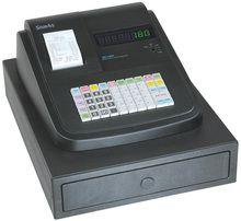 SAM4s ER-180T Cash Register*, Thermal Receipt Printer, 16 Departments, 10 Cashiers, 500 PLU's, Raised Keys, Electronic Journal, Black (Replacement for ER-150, ER-150II Models)