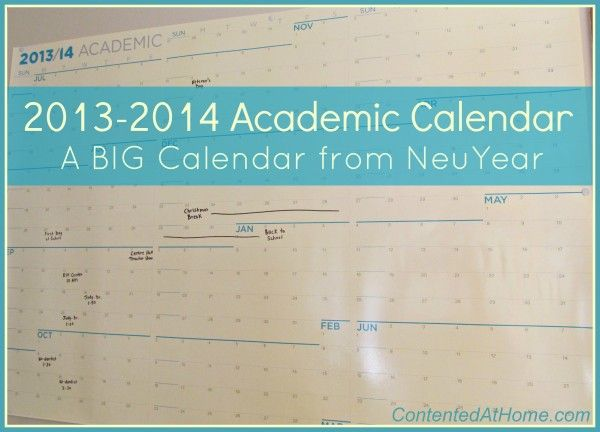 Big Academic Calendar from NeuYear - plus enter to win one of your own!