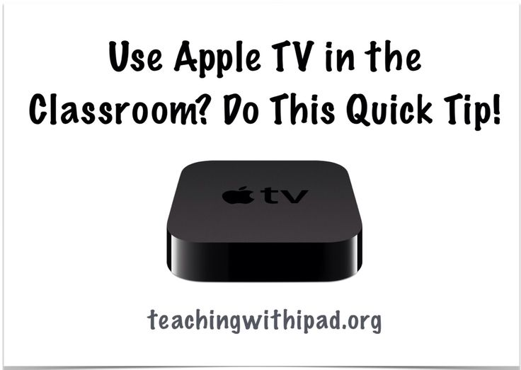 Here is a quick tip for Apple TV teachers!This is a must for those teachers use the great benefits that the AppleTV can bring to the classroom.Do you see this intro screen when the Apple TV turns o…