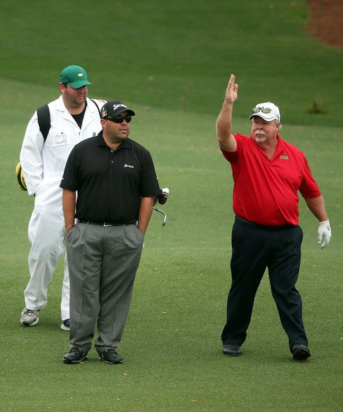 Craig Stadler Photos Photos - Kevin and Craig Stadler of the United States look over a hole during a practice round prior to the start of the 2014 Masters Tournament at Augusta National Golf Club on April 8, 2014 in Augusta, Georgia. - The Masters - Preview Day 2