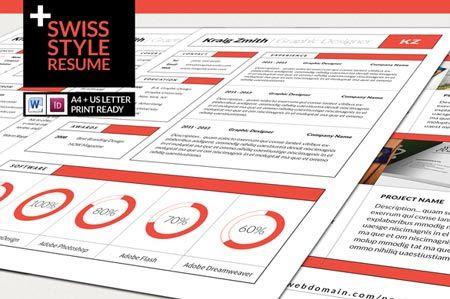 Creativemarket Swiss Style Resume 15218