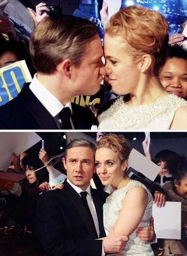 Amanda Abbington and Martin Freeman ----> they are so cute together!!