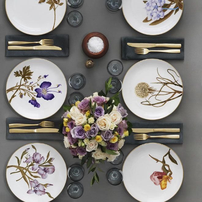 Flora Danica Table Setting in the 2012 Royal Copenhagen Catalogue