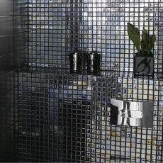 Konradssons Kakel Metaleza svart 2,5x2,5 (ark 49x31 cm)