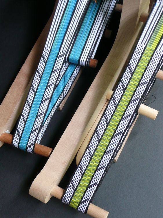 I would build an inkle loom and learn to weave on it!    Two colorways, same draft, but slightly different.