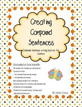 Updated! I designed this product as a center or a file-folder game, but it can just as easily be used a paired work or independent work.  The students will manipulate the sentence strips and connecting word cards to form compound sentences and then write them on the recording sheet.