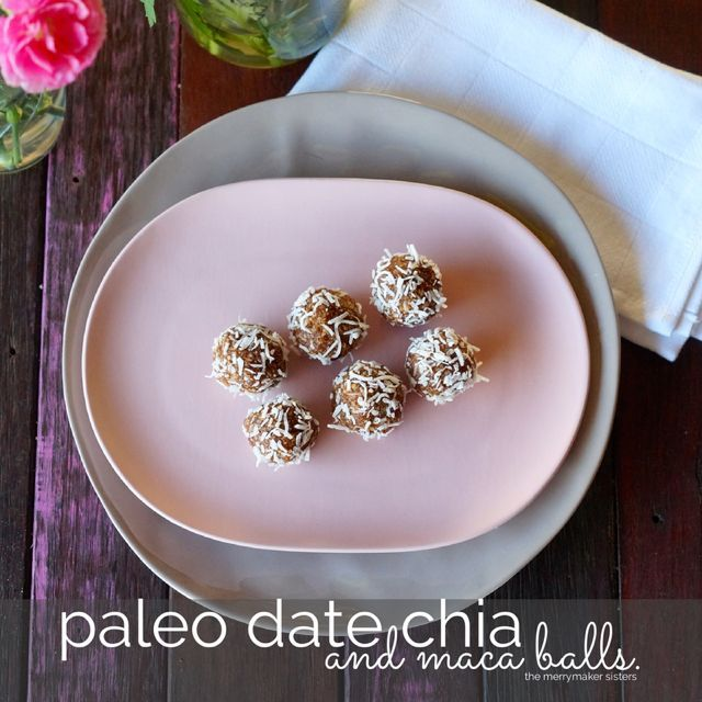 Paleo Date, Chia and Maca Balls inspired by Pete Evans. | Paleo Recipes - Paleo Diet, Lifestyle and Fitness Tips | The Merrymaker Sisters