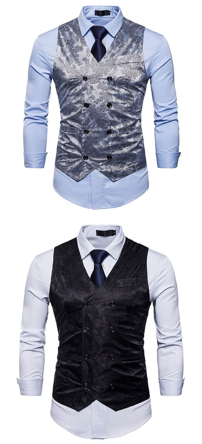 Men's Daily Work Casual Chinoiserie Spring Fall Vest
