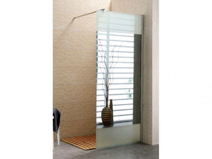 Paroi de douche à l'italienne CARLA avec miroir anti buée - 90x200cm