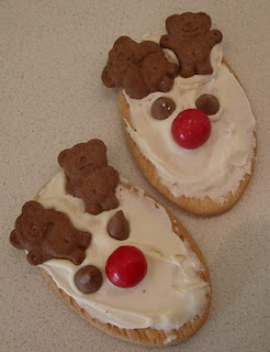 Christmas Reindeer Tiny Teddy Cookies