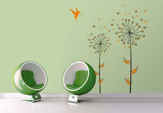 Wall Stickers - Dandelions Orange