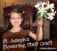 St. Joseph Feast Day ~ Flowering Staff Craft ~ Catholic Inspired