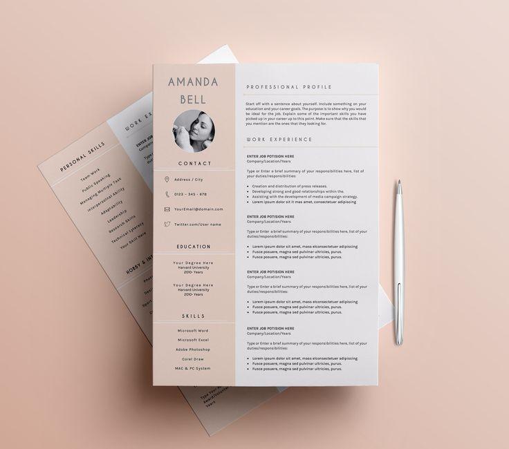 33 best Resume Template Designs images on Pinterest Resume - professional fonts for resume