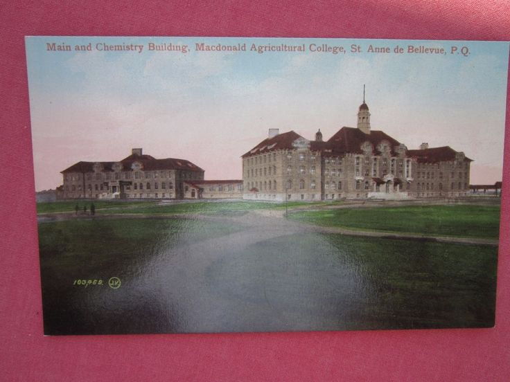 MACDONALD COLLEGE,CHEMISTRY BLDG, Ste ANNE de BELLVUE vintage colour postcard