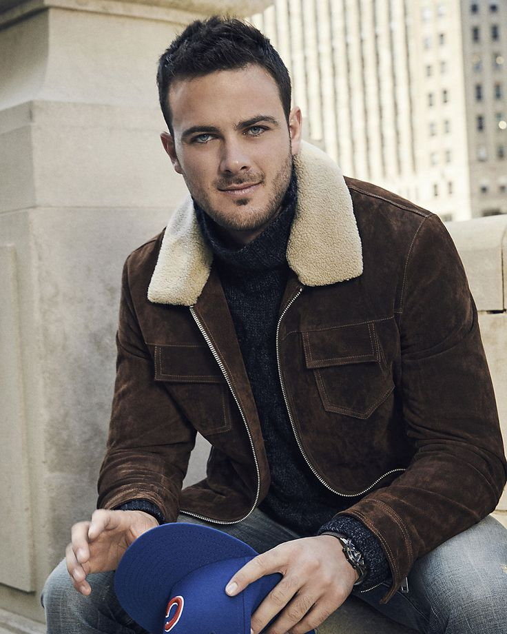 Kris Bryant. Third Baseman for the Chicago Cubs. Quite possibly the most hottest baseball player ever! He is currently modeling for Express and I can't stop looking at his pics. He is a doll and also the sweetest guy and also a great baseball player!