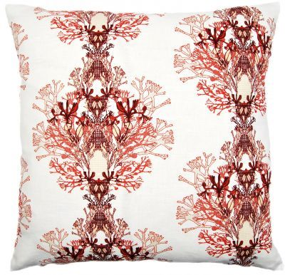 Mairo red Fager pillowcase. Designed by Anna Backlund.