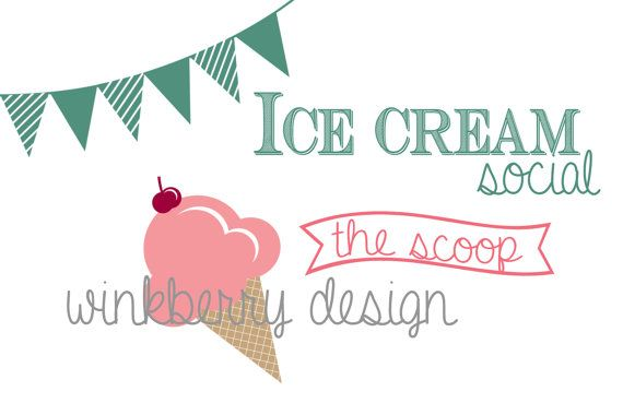 Ice Cream Social Photoshop Brushes 7 Instant by WinkberryDesign, $4.00