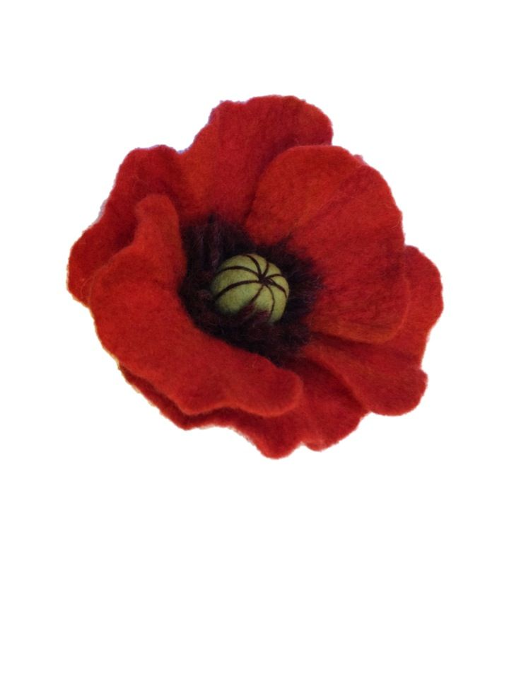 Remembrance Sunday is nearly upon us and we've been inundated with requests for a felted poppy tutorial. This simple tutorial involves a bit of needle felting and wet felting. It's easy and straight forward and as you can see the end result is quite beautiful and effective.