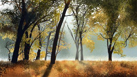 #woods #illustration #trees #fog #mist #leaves #photoshop