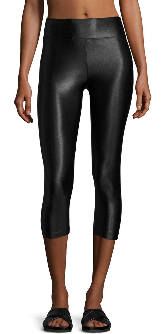 High-Rise Lustrous Capri Leggings by KORAL ACTIVEWEAR. Koral Activewear leggings in medium-performance fabric with a smooth lustrous finish. Infinity fabric offers water-fr...