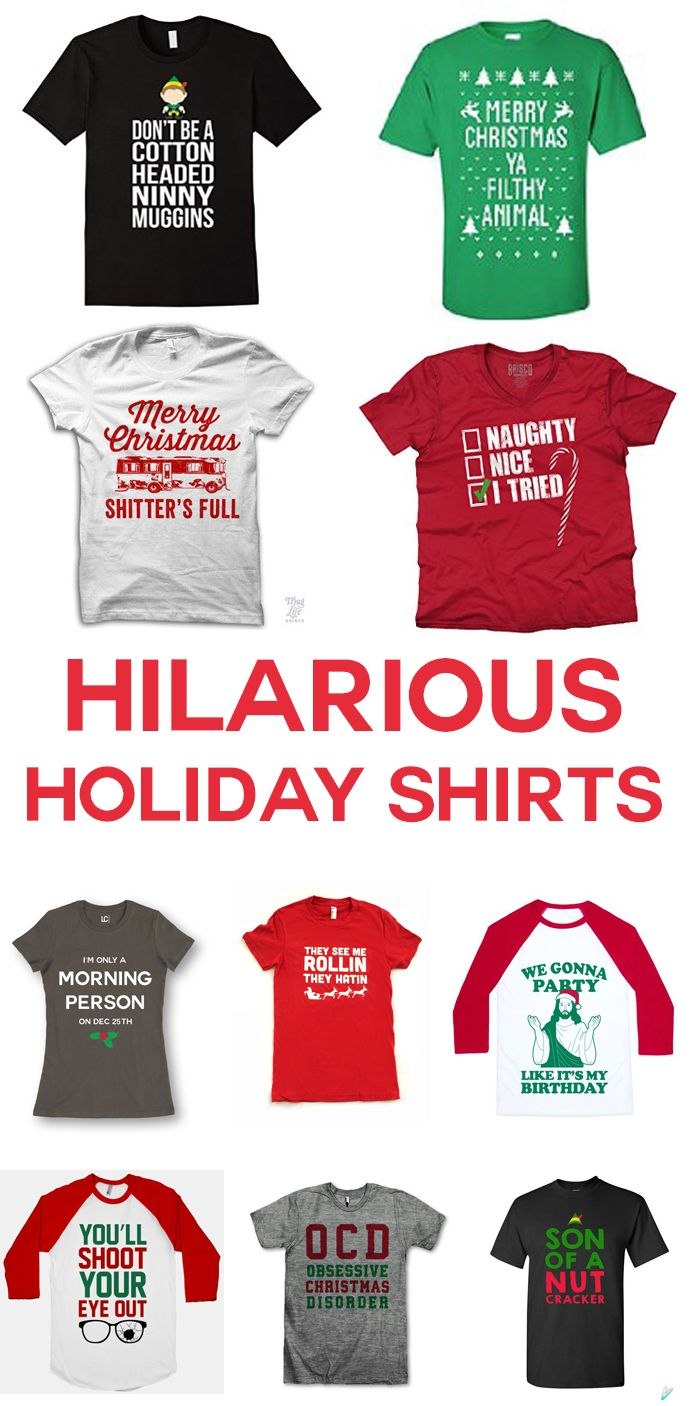 I am cracking up at these funny Christmas shirts! I especially love all of the Elf and Griswold references. If you want to give everyone a giggle over the holidays, grab one of these. I think number 10 is my favorite, what is yours? 10 Funny Christmas Shirts Everyone Needs Merry Christmas Ya' Filthy Animal – …