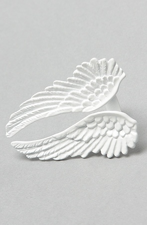 Wildfox Angel Wings Ring in White
