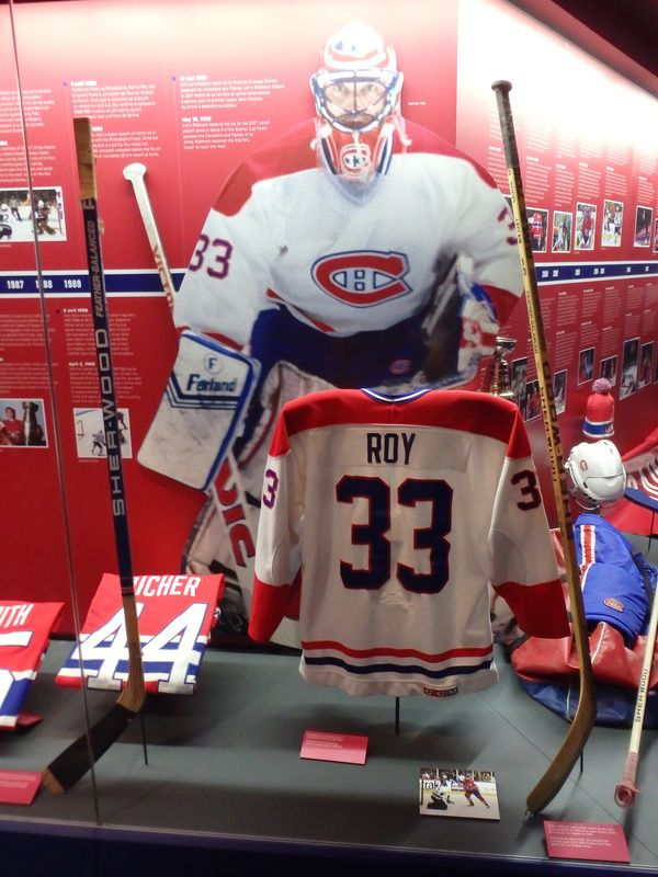 Inside the Montreal Canadiens Hockey Hall of Fame in downtown Montreal.