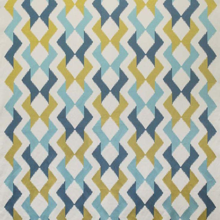 Warwick Fabrics : PEPITA, Colour ZEST