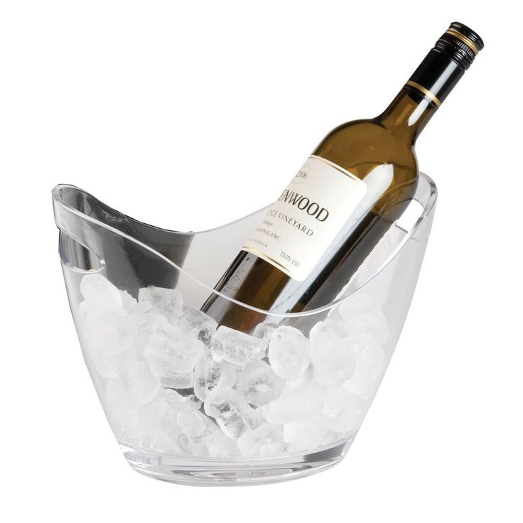 The ultimate clear acrylic multi purpose bucket. Perfect for two bottles of wine or can be used as a hamper basket or fruit bowl.