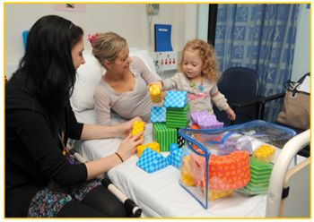 "Play Therapy for Children in Hospital Huggies.com.au, featuring hospital play specialist Kylie. ""What does a play therapist do?"" video and information."