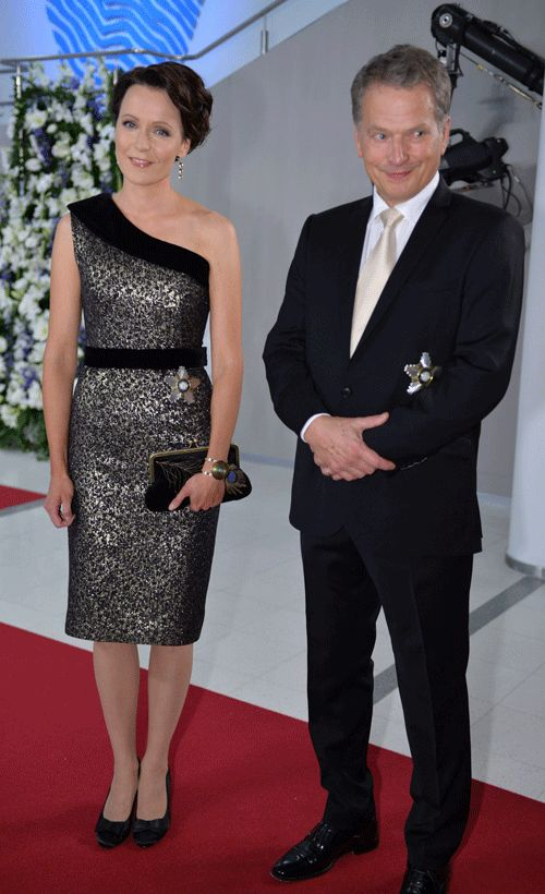 President Sauli Niinistö and his wife Jenni Haukio celebrating Finland's Indipendence Day 06.12. Finland