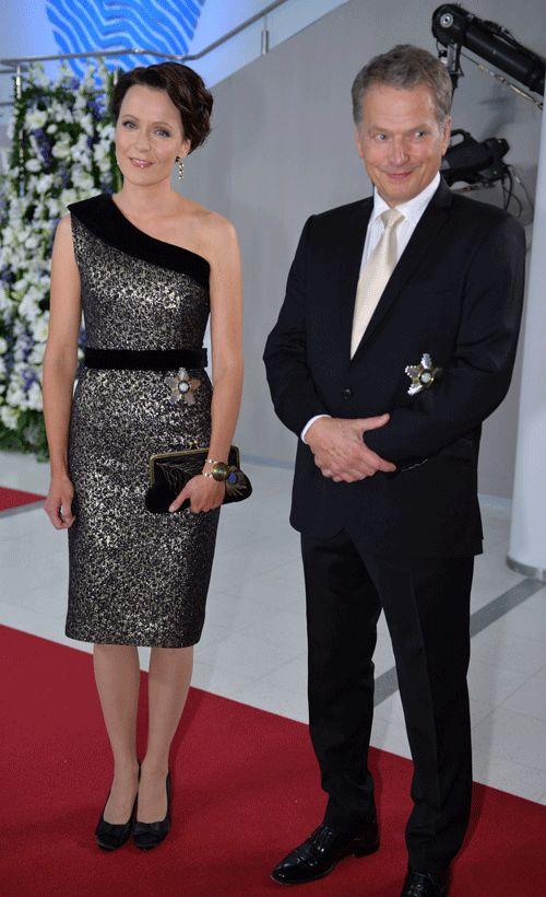President Sauli Niinistö and his wife Jenni Haukio celebrating Finland's Indipendence Day .