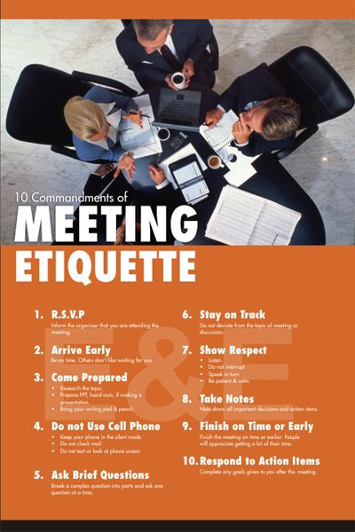 image result for meeting room etiquette posters