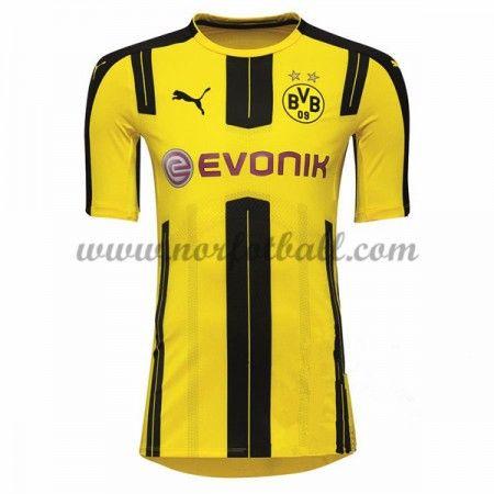 Billige Fotballdrakter BVB Borussia Dortmund 2016-17 Hjemme Draktsett Kortermet