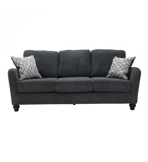 FABRIC 3 SEATER SOFA IN DARK GREY COLOR 214X94X92_50