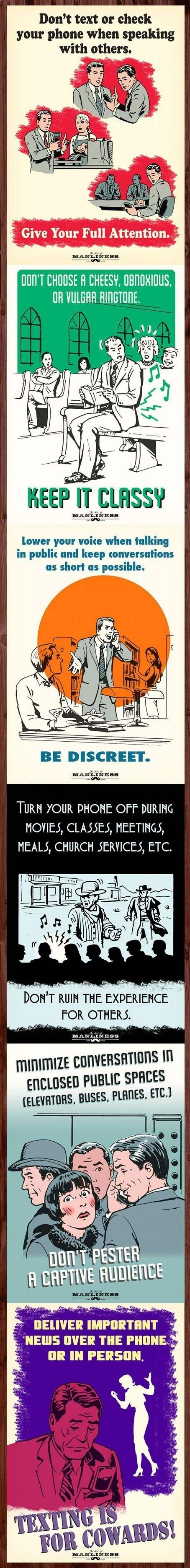 Text etiquette posters -some people need to be slapped with these