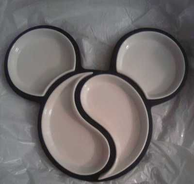 DISNEY MICKEY MOUSE CHIP AND DIP BOWLS Ceramic