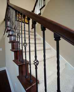 rod iron and white staircase | Wrought Iron Staircase | Flickr - Photo Sharing!