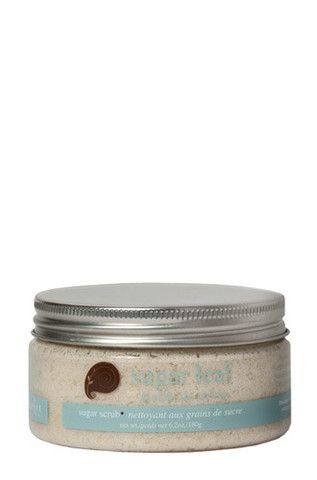 White and brown sugar crystals, saturated with healing oils, gently buff roughness away