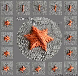 tutorial: star shaped rhodes stitch by Pumora, via Flickr
