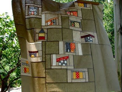 17 best images about mid century modern on pinterest for Modern house quilt block