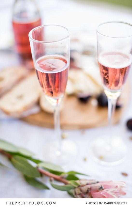 Pink bubbly, the perfect drink for Valentine's Day | Photography by Darren Bester