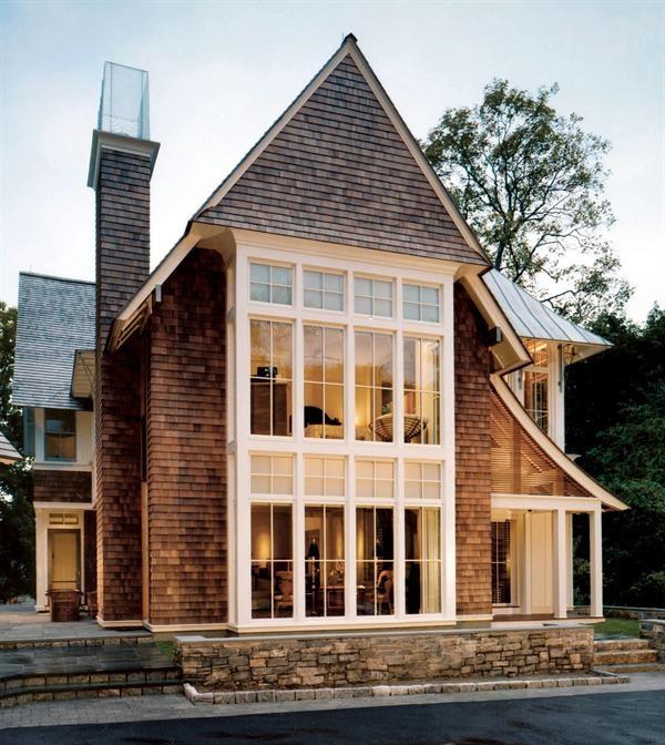 Rising star joeb moore aia architects award winners for Cedar shake house plans